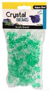 AQUA ONE CRYSTAL GEMS ACRYLIC BETTA GRAVEL 145G 15MM LUCKY CHARM