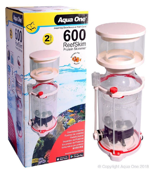 AQUA ONE REEFSKIM 600 PROTEIN SKIMMER 1400LH UP TO 600L TANK
