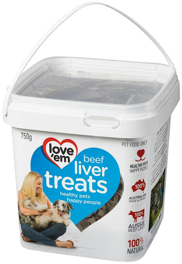 LOVE'EM BEEF TREAT 750G TUB