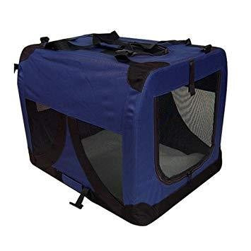 COLLPSIBLE CRATE LARGE BLUE
