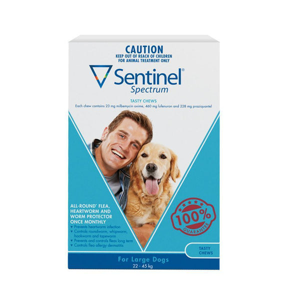 SENTINAL TASTY CHEWS LARGE DOG 6PACK
