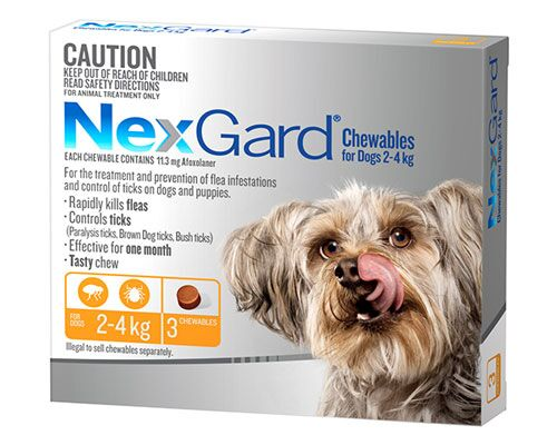 NEXGARD DOG CHEW 2-4KG YELLOW 3PK