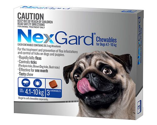 NEXGARD DOG CHEW 4.1-10KG BLUE 3PK