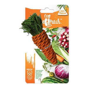VEGGIE PATCH CARROT CHEW TOY 18CM