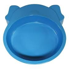 SCREAM DOG FACE BOWL 350ML BLUE