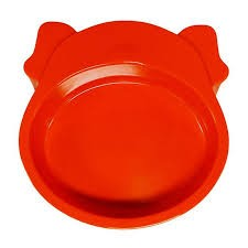 SCREAM DOG FACE BOWL 350ML ORANGE