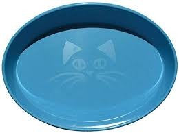 SCREAM OVAL CAT BOWL 300ML BLUE