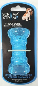 SCREAM XTREME TREAT BONE LOUD BLUE SMALL 9CM