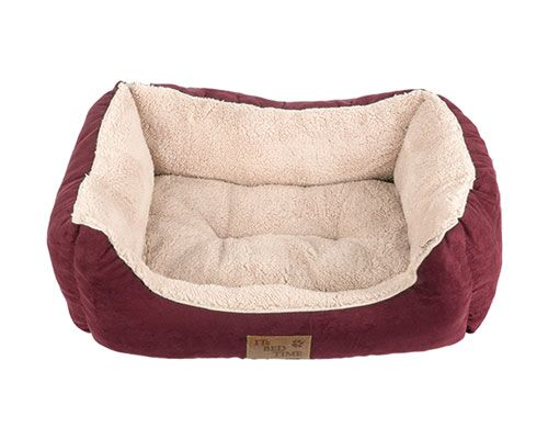 ITB PLUSH RECTANGLE BED RED SMALL