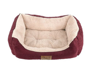ITB PLUSH RECTANGLE BED RED MEDIUM