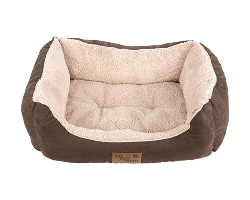 BED PLUSH RECT BROWN LGE