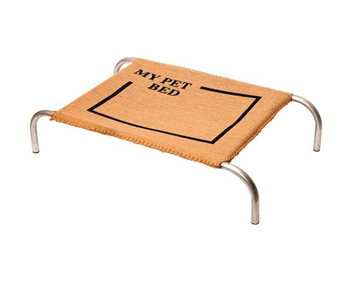 BED MY PET HESSIAN METAL FRAME SMALL