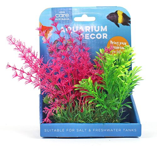 PLANT A/DECOR RESIN BASE PINK 15CM