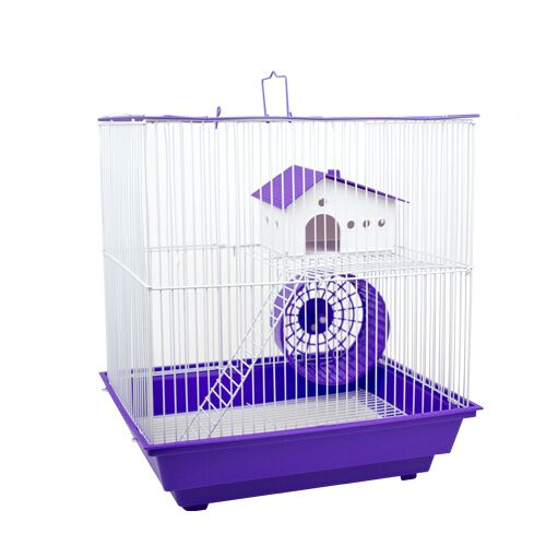 MOUSE CAGE LARGE 36X28.5X39CM BLUE/PURPLE