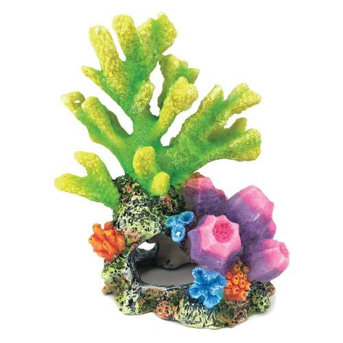 A/ORN CORAL ON ROCK GREEN 21CM