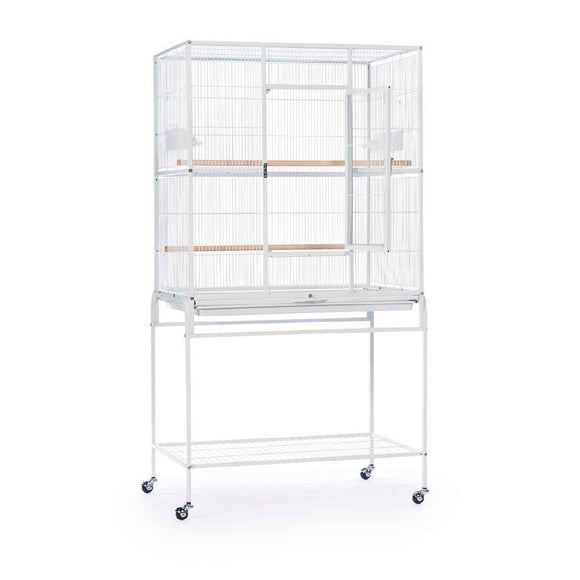 CAGE FLIGHT W/STAND 82X52X150CM WHITE