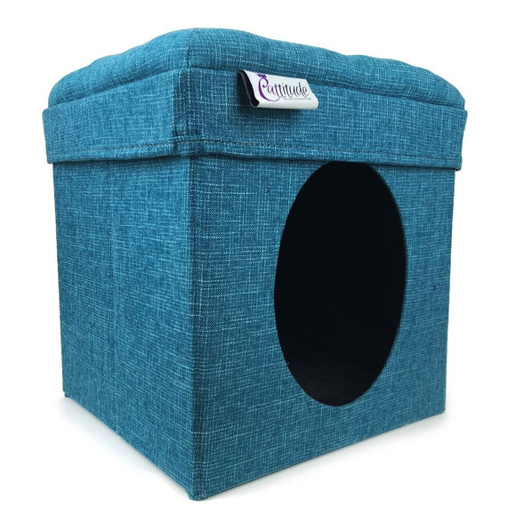 SCRAT/POST CATTITUDE PLAY BOX BLUE