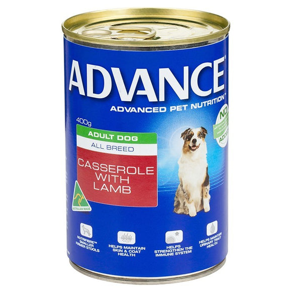 ADVANCE DOG WET CASSEROLE W/LAMB