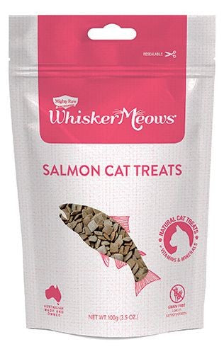 MIGHTY RAW CAT WHIS MEOWS SALMON 100G