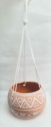 ABDOU TERRACOTTA HANGING POT SMALL 12X9CM