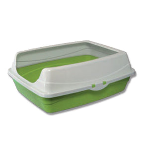 CAT LITTER TRAY WITH RIM - RECTANGULAR