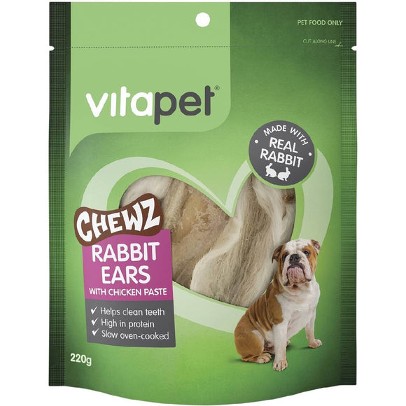 VP RABBIT EARS WITH CHICKEN 220GM