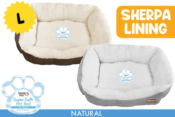 JUMBO PET BED 65X90X23CM ASST. COLOURS