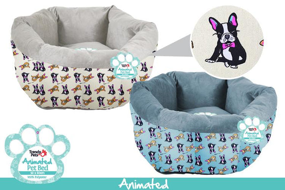 EXTRA LARGE POD PET BED FRENCHIE 60CM X 60CM