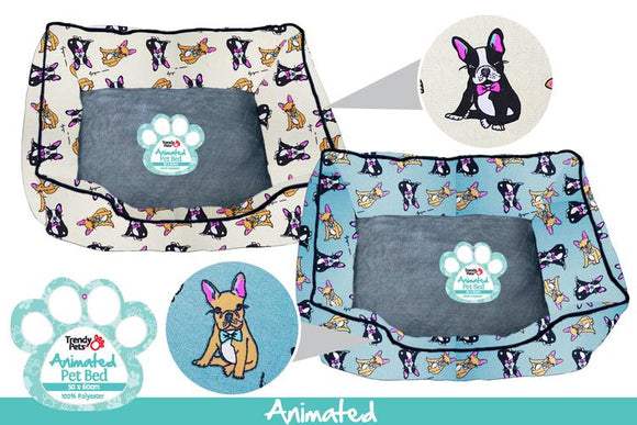 PET BED FRENCHIE 50 X 60 X 20CM