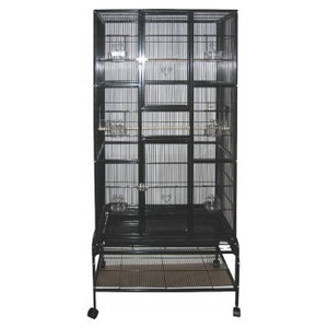 AVI ONE SQUARE TALL BLACK CAGE 604T