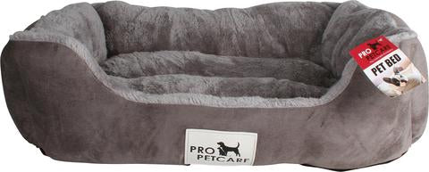 PET BED MICROFIBRE WITH PLUSH ASSORTED COLOUR
