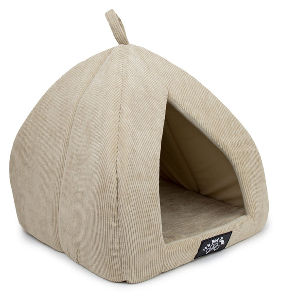 BED IBT IGLOO STRIP VELVET BEIGE LARGE
