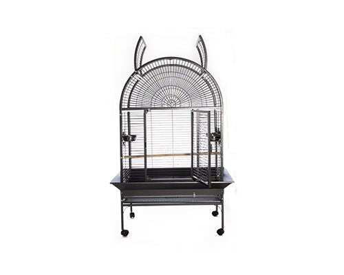 BIRD CAGE OPEN TOP BLACK W/STAND