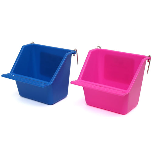 PLASTIC COOP CUP WITH PERCH - LARGE 11.5CM