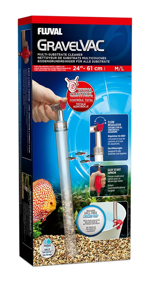 FLUVAL GRAVEL VAC SUBSTRATE CLEANER MED/LARGE