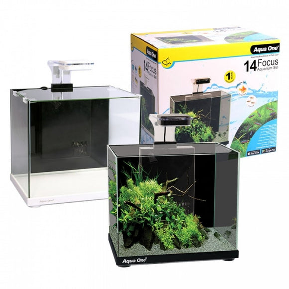 AQUA ONE FOCUS 14 GLASS AQUARIUM 14L BLACK