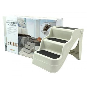 FURKIDZ DOG STAIRS FOR BED/VEHIICLE- BEIGE