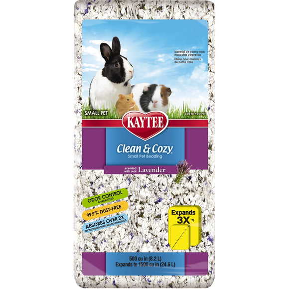 KAYTEE CLEAN & COZY LAVANDER BEDDING 24.6LT