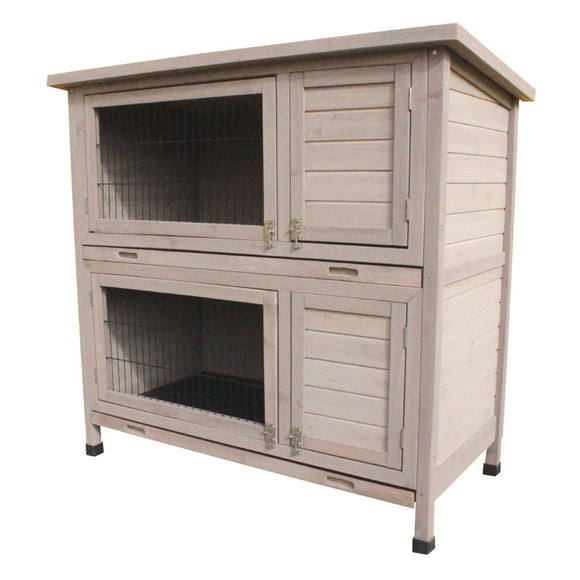 RABBIT HUTCH - TWIN LEVEL GREY