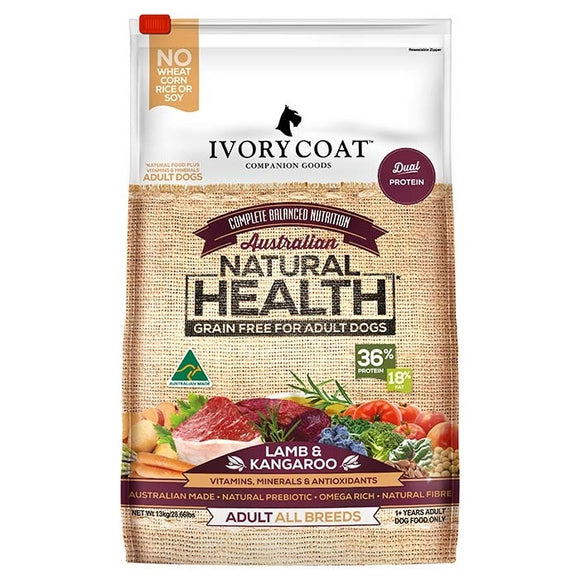 IVORY COAT ADULT ALL BREED LAMB & KANGAROO 2KG