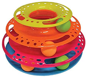SCREAM TRIPLE LAYER ORB TOWER CAT TOY 26X13CM MULTI