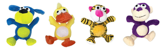 PLUSH TOYS STANDING ANIMAL ASSORTED 20CM