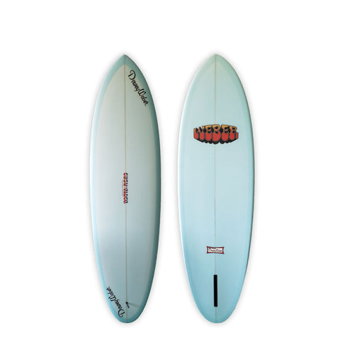 "<span>Light Blue Single Fin </span>6'6"" Easy Rider"
