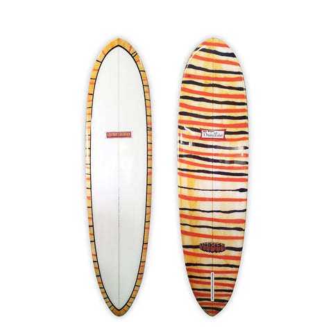 "Tiger Stripe 7'4"" Feather Fastback"