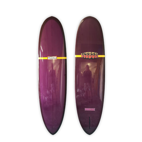 "<span>Plum Single Fin </span>7'4"" Strato Mini Feather"