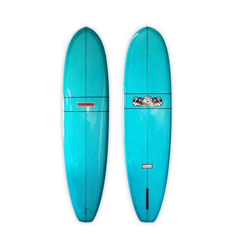 "<span>Teal Single Fin </span>7'6"" Performer Squareback"