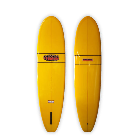 "<span>Golden Yellow Single Fin </span>7'8"" Performer Squareback"