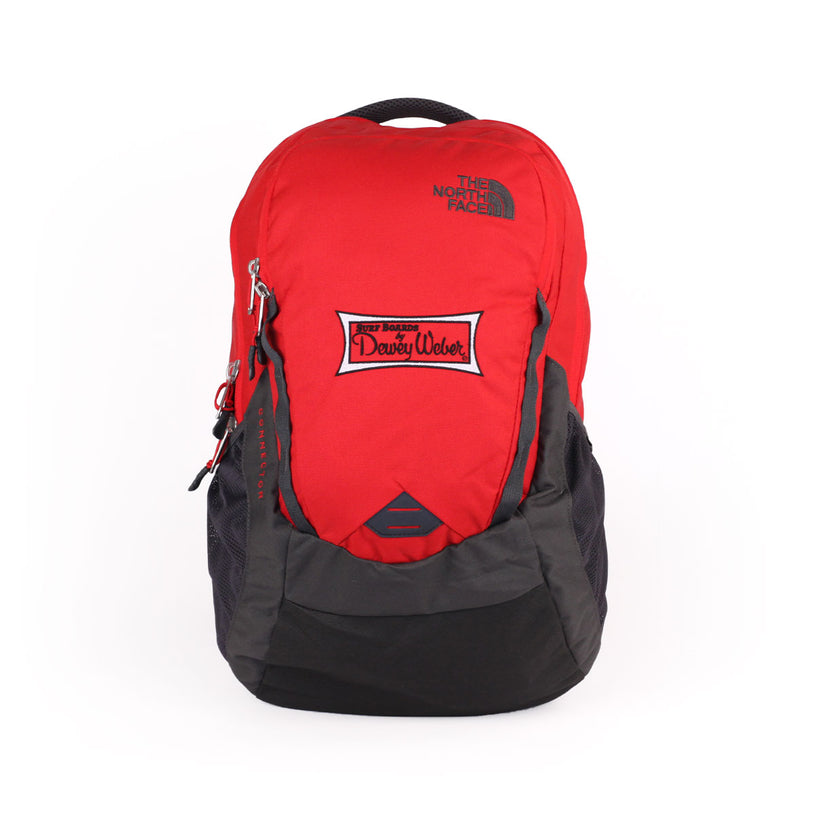 Red Classic Logo North Face Backpack