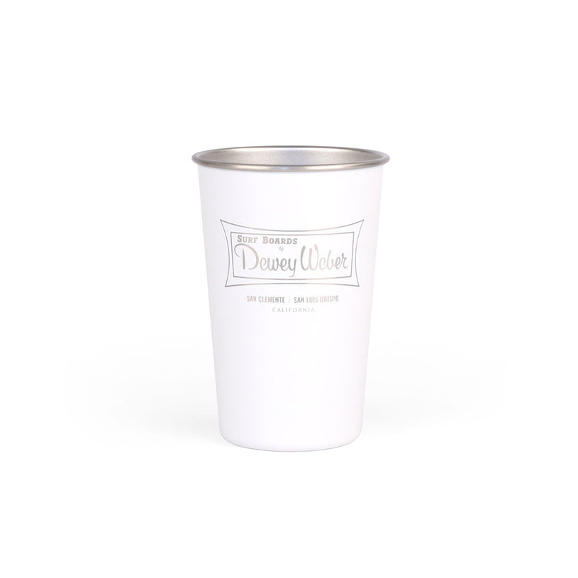White Classic Logo Party Cup