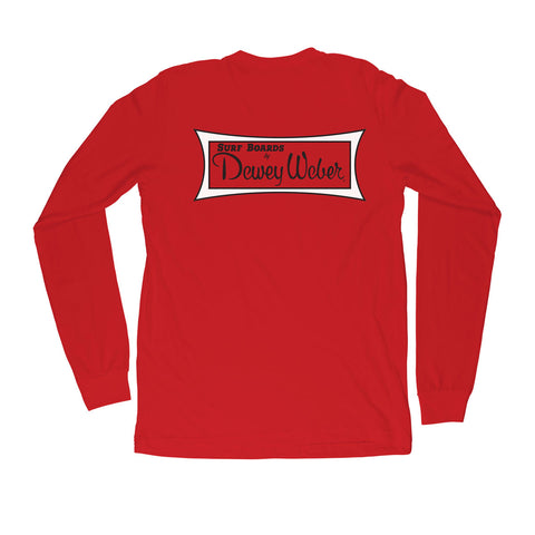Red Classic Logo Long Sleeve T-Shirt